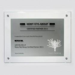 szklany certyfikat