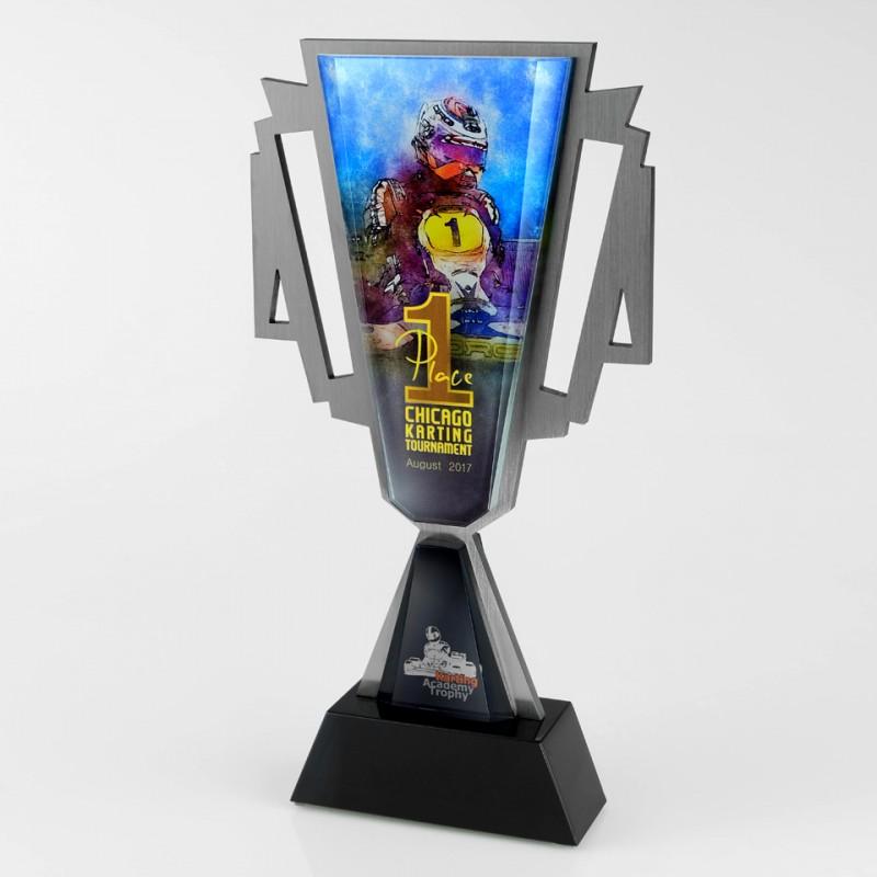 Puchar metalowy sportowy