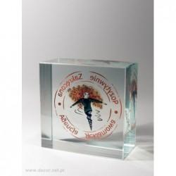 Przycisk szklany z fotografią K-5ZD Agencja