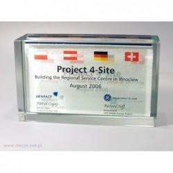 Przycisk szklany z fotografią K-7ZD Tło