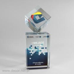 Nagroda biznesowa, kostka z kolorowym nadrukiem