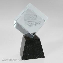 Sklenená kocka s fotografiou