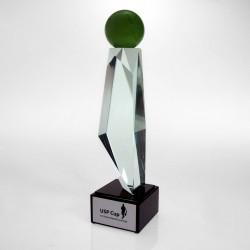 Statuetka szklana sportowa golfowa