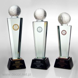Statuetka szklana sportowa tenis, golf, kręgle, billard