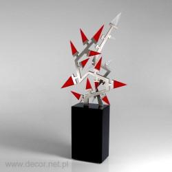 statuetka z metalem