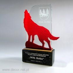 Sklenené ocenenia Wolf - Fusing-
