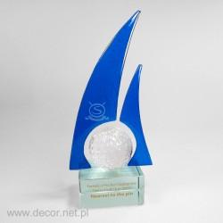 Glass awards - Fusing - glass statuette