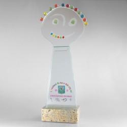 Statuetka szklana - Fusing - statuetki na zamówienie