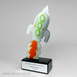 Rocket statuette - Fusing - Glass awards