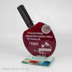 Glass awards Tennis palette - Fusing -