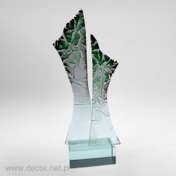 Sklenené ocenenia - Fusing - Sklenená soška