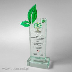 Statuetka szklana - Fusing - producent statuetek