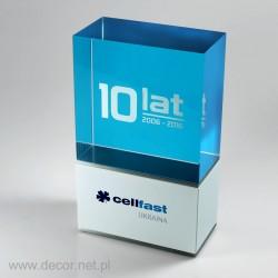 Sklenené ocenenia Cellfast - 10 rokov Pre001