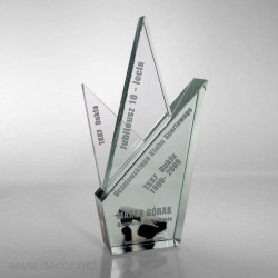 Sklenené ocenenia UKS - 10 rokov Pre003