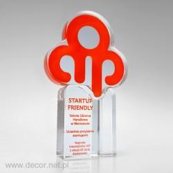 Sklenené ocenenia AIP - Startup Friendly Pre006