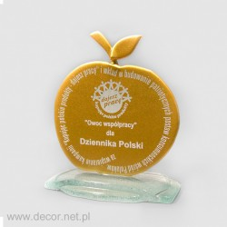 Sklenené ocenenia Dziennik Polski - Jablko Pre075