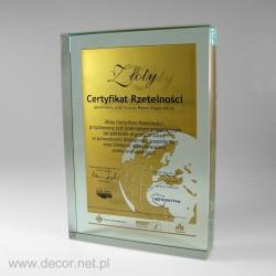 certyfikat dla firmy