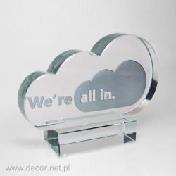 Statuetka firmowa z motywem chmury