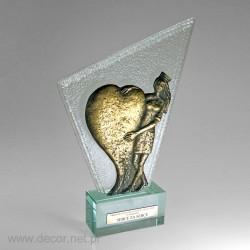 Prestiżowa statuetka z  sercem