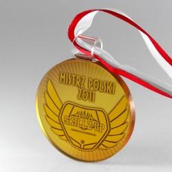 Medal szklany