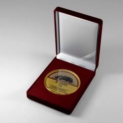 Szklany medal okolicznościowy