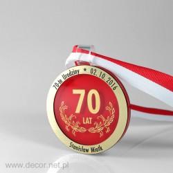70 narodeninovú medailu
