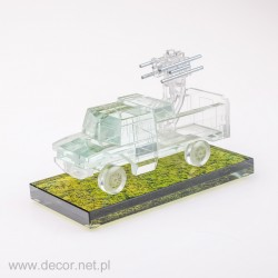 Glass miniature Combat car
