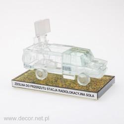 Sklenená miniatúra radiolokátorová stanica