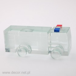 Glass miniature Fire truck