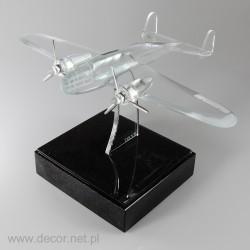 Glass miniature Plane PZL 37 ŁOŚ