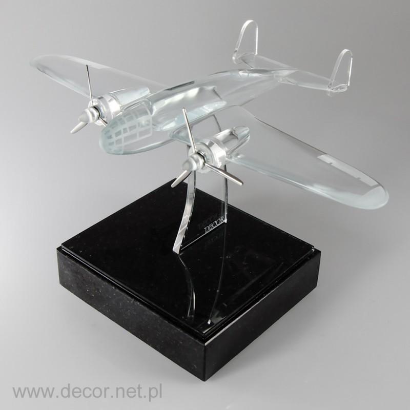 Sklo miniatúrne lietadlo  PZL 37 ŁOŚ