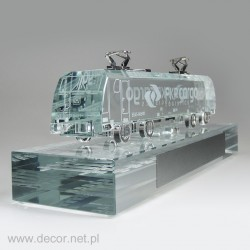 Glass miniature Train PKP Cargo