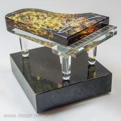 Miniatura szklana Fortepian