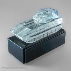 Miniatura szklana Czołg