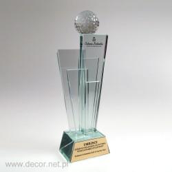 Glass trophies golf