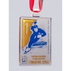 Glass medal