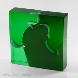 Glas Skulpturen Green Fantasies - m.390
