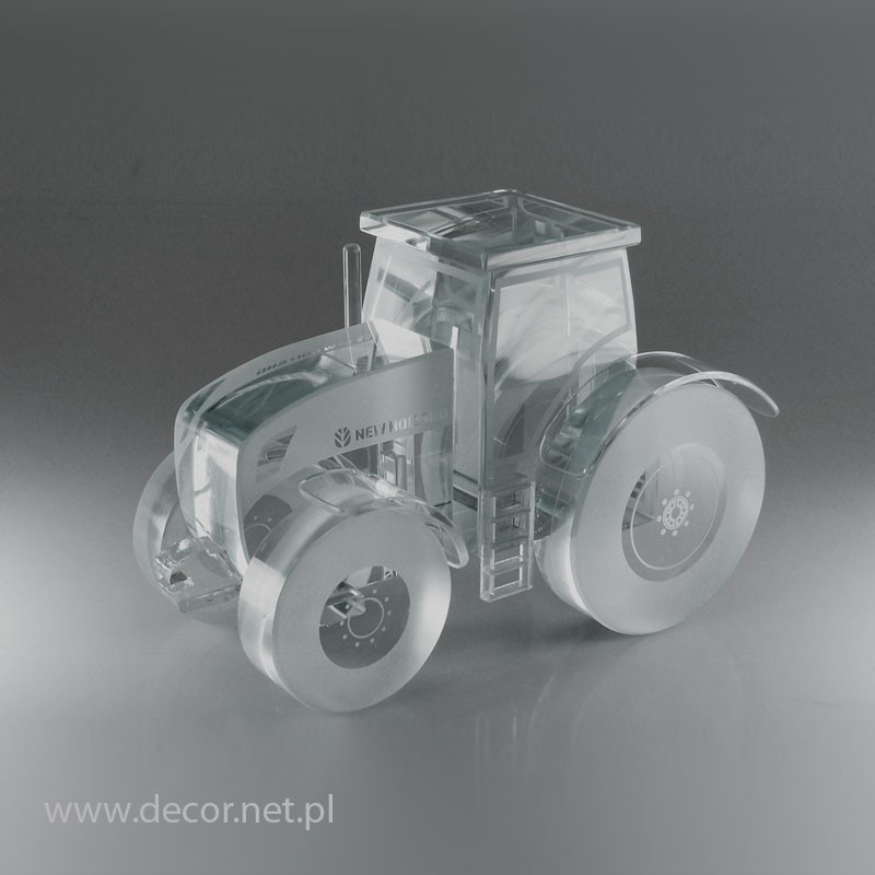 Sklo miniatúrne traktor