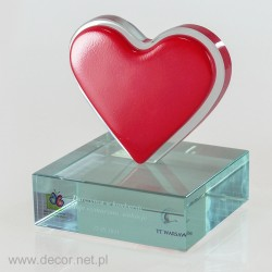 Statuetka szklana Serce PS-499