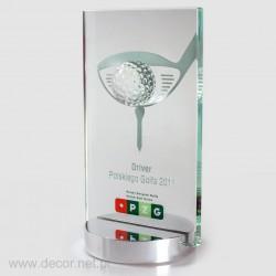 Statuetka szklana z piłką golfową