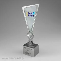 Puchar szklano metalowy