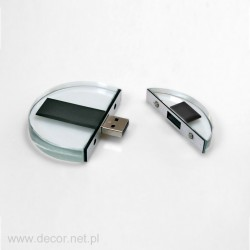 Glass Pendrive. Disc with...
