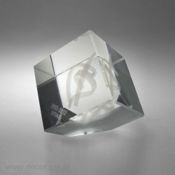 Przycisk szklany z grawerem 3D