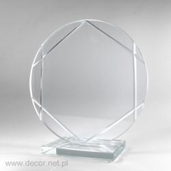 Statuetka szklana plakieta