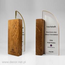Glasstatuette mit Holz DRE-15