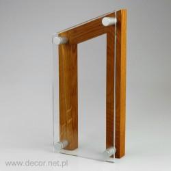Statuetka szklana z drewnem