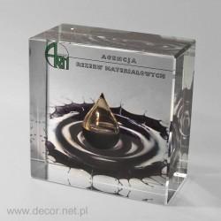 Przycisk szklany z olejem lub ropą, kropla K-5