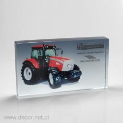 Przycisk szklany z fotografią K-8ZD Traktor