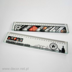 Glass ruler with print LS-01