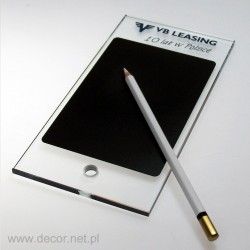 Desk tablet with a pencil